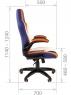Игровое кресло CHAIRMAN GAME 15 MIXCOLOR